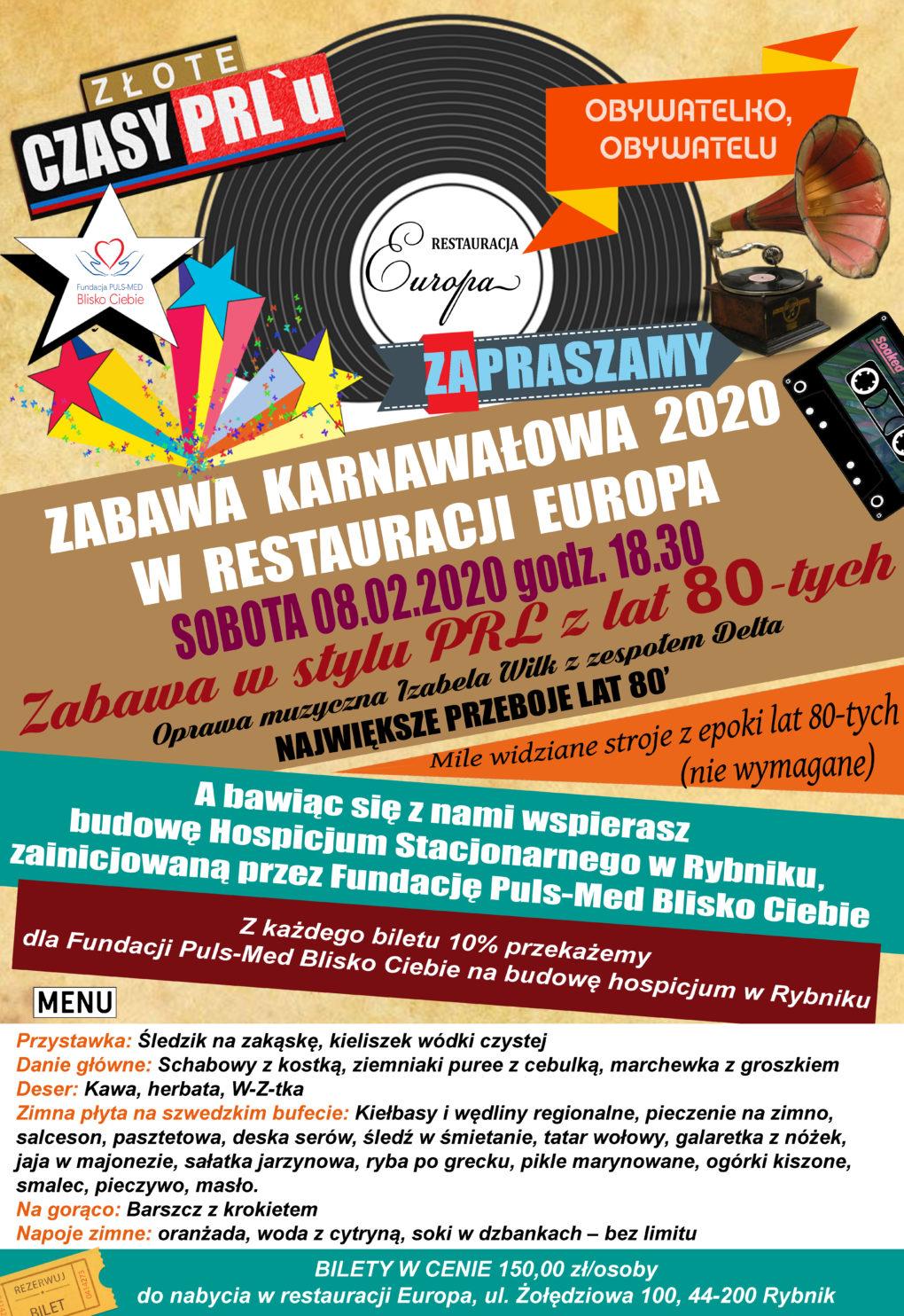 Zabawa Karnawałowa 2020