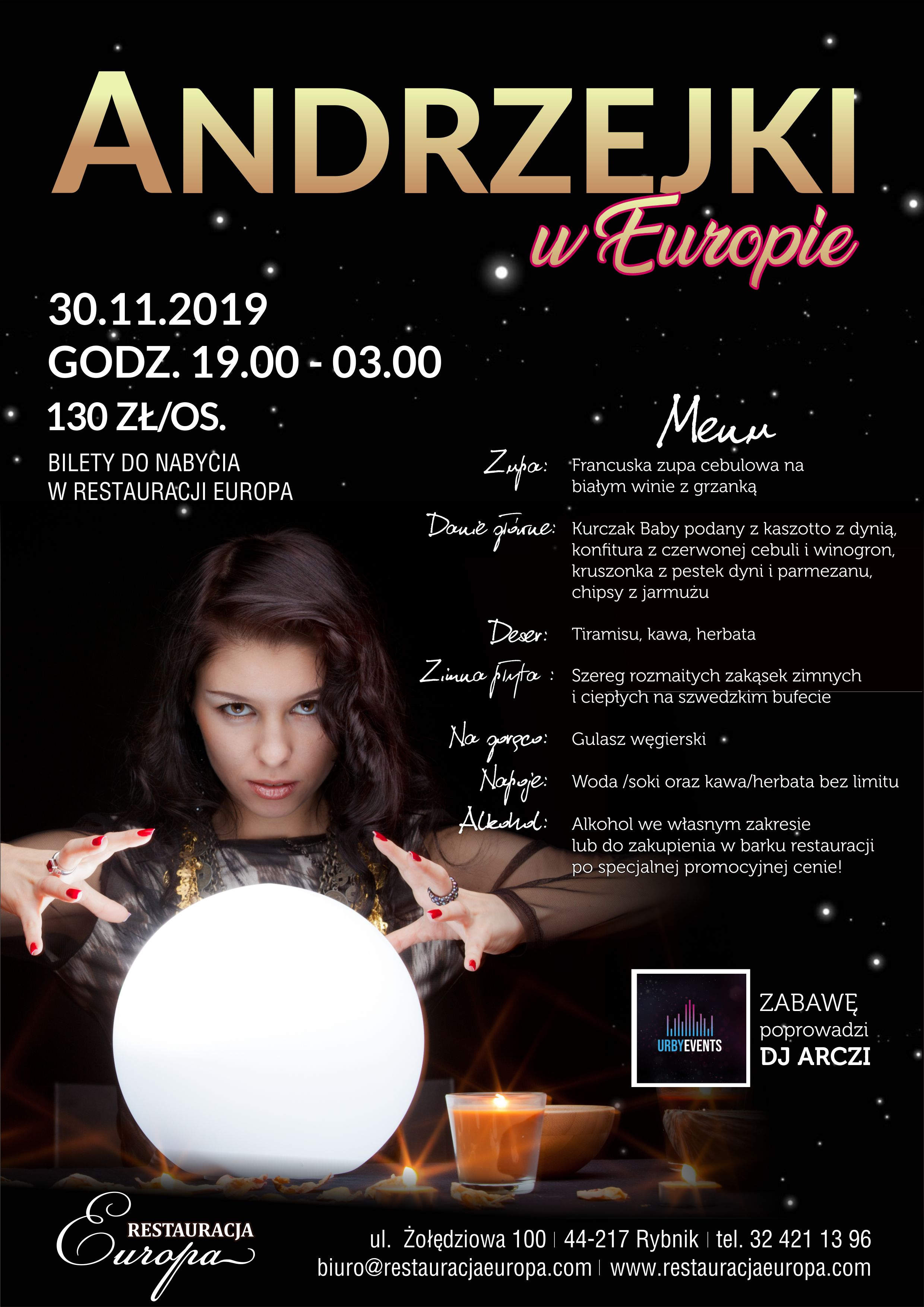 Andrzejki 2019 | Restauracja Europa