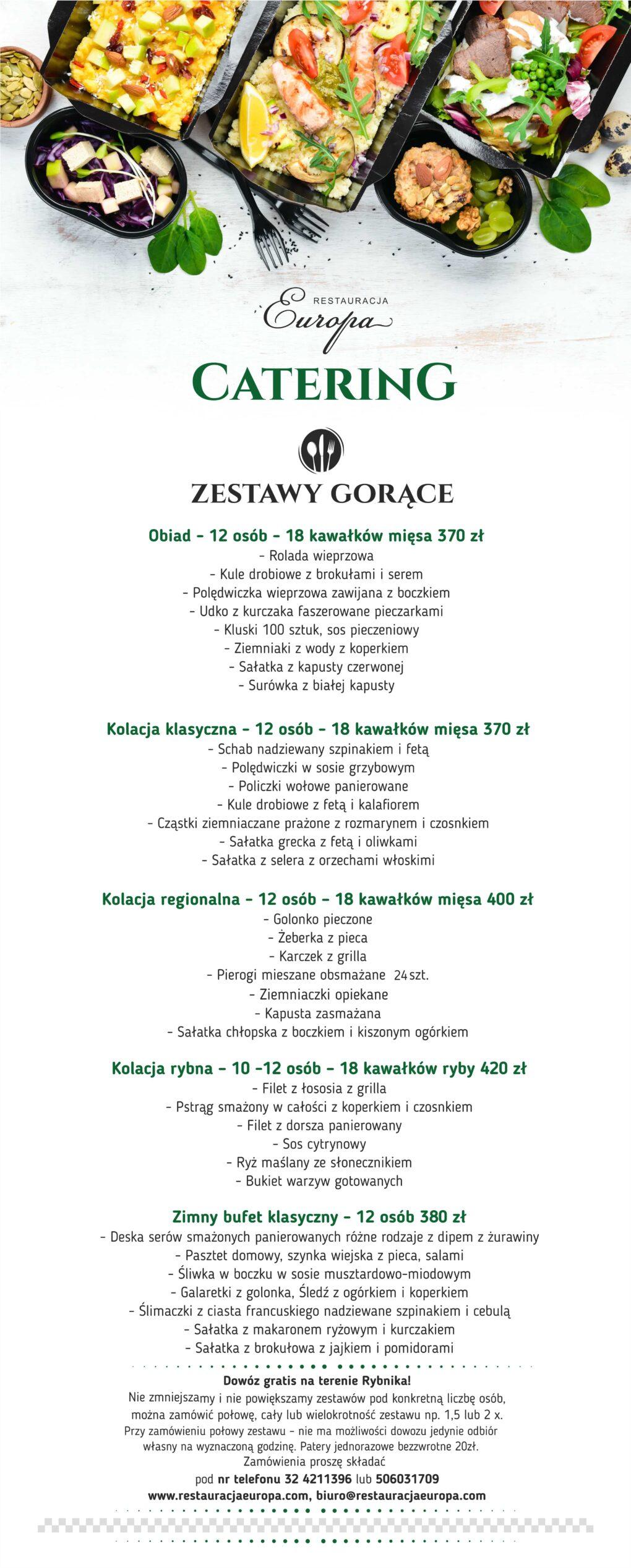 Catering 2020   Restauracja Europa Rybnik