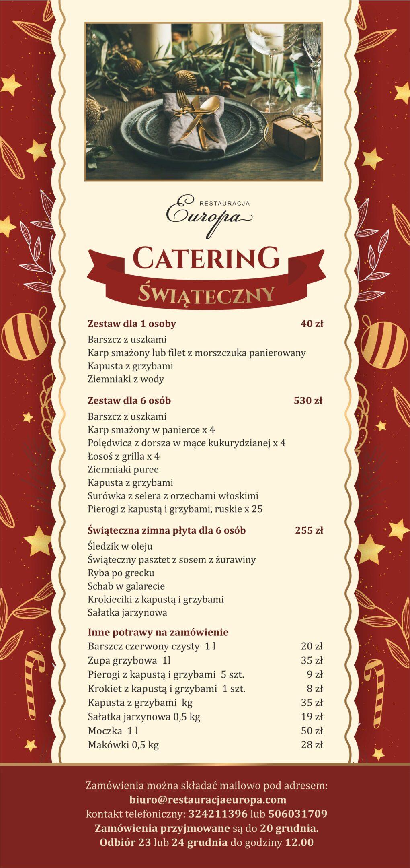 Catering Świąteczny 2020   Restauracja Europa Rybnik