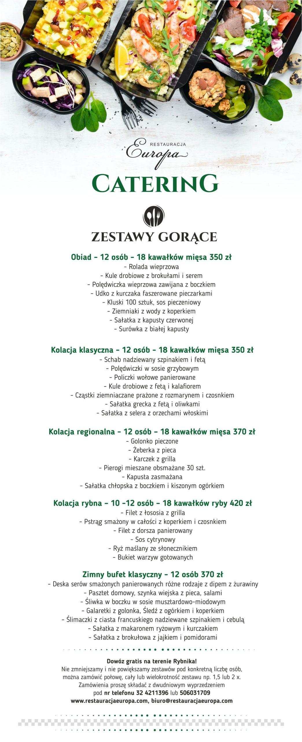 Catering 2020 | Restauracja Europa Rybnik