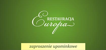 Zaproszenie upominkowe do Restauracji Europa